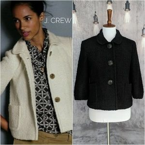 J. Crew Boucle Wool-blend Mandy Jacket in Black